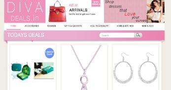 Divadeals web page design