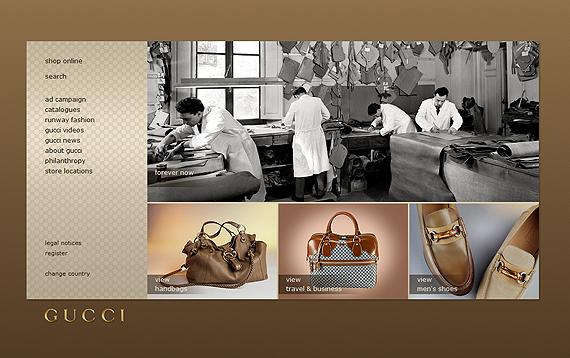 Gucci Web Page Design