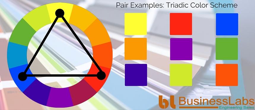 Illustrating Triadic Color Scheme
