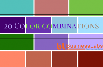 20 color combinations inspirations for web design