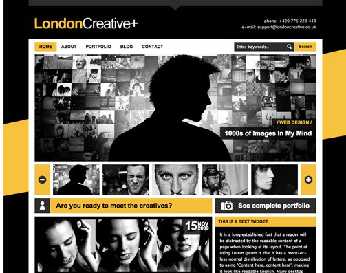 Color combination of London Creativeplus Web design