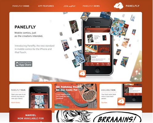 Color combination of Panelfly Web design