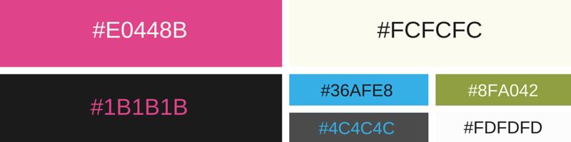 Color combinations in web design of Matt