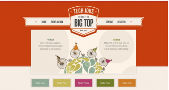 Color combinations of tech jobs website